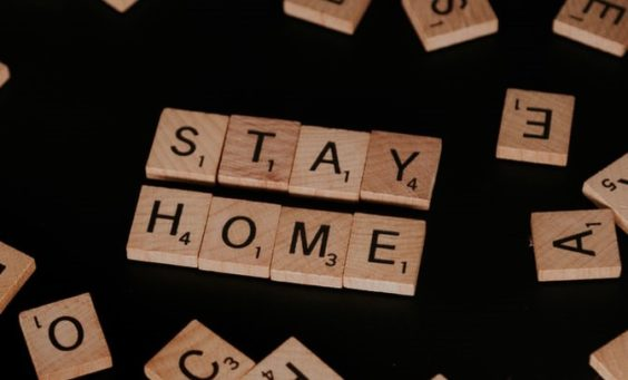 Scrabble Tiles Spelling Stay Home