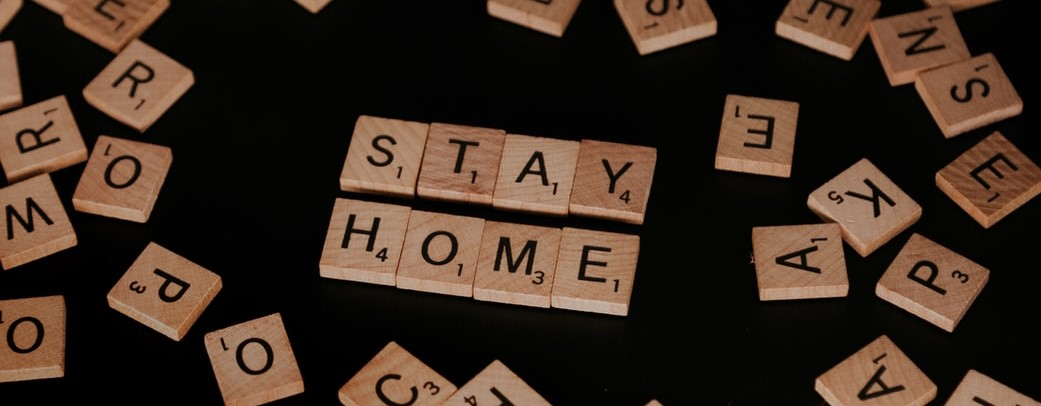 Scrabble Tiles Spelling Stay Home